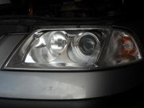 Polerowanie lamp VW Passat reflektor po regeneracji